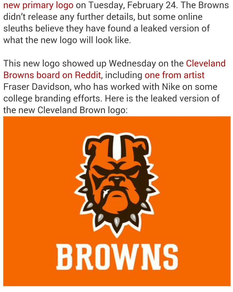 Cleveland Browns Logo is