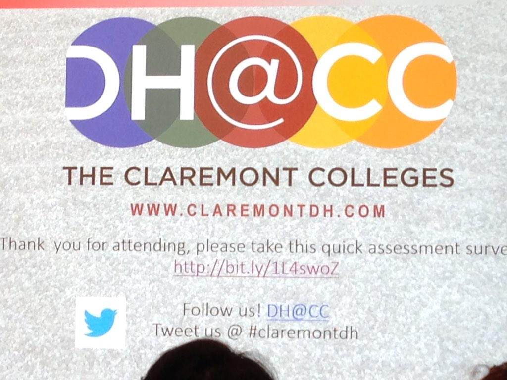 It's on #claremontdh ! @honnoldlibrary http://t.co/QZ0k3A8e06