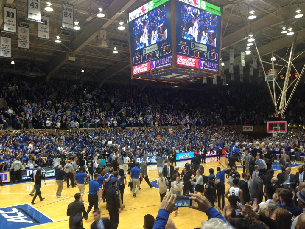 Final: Duke 92, UNC 90 http://t.co/GN7EhEQtvM