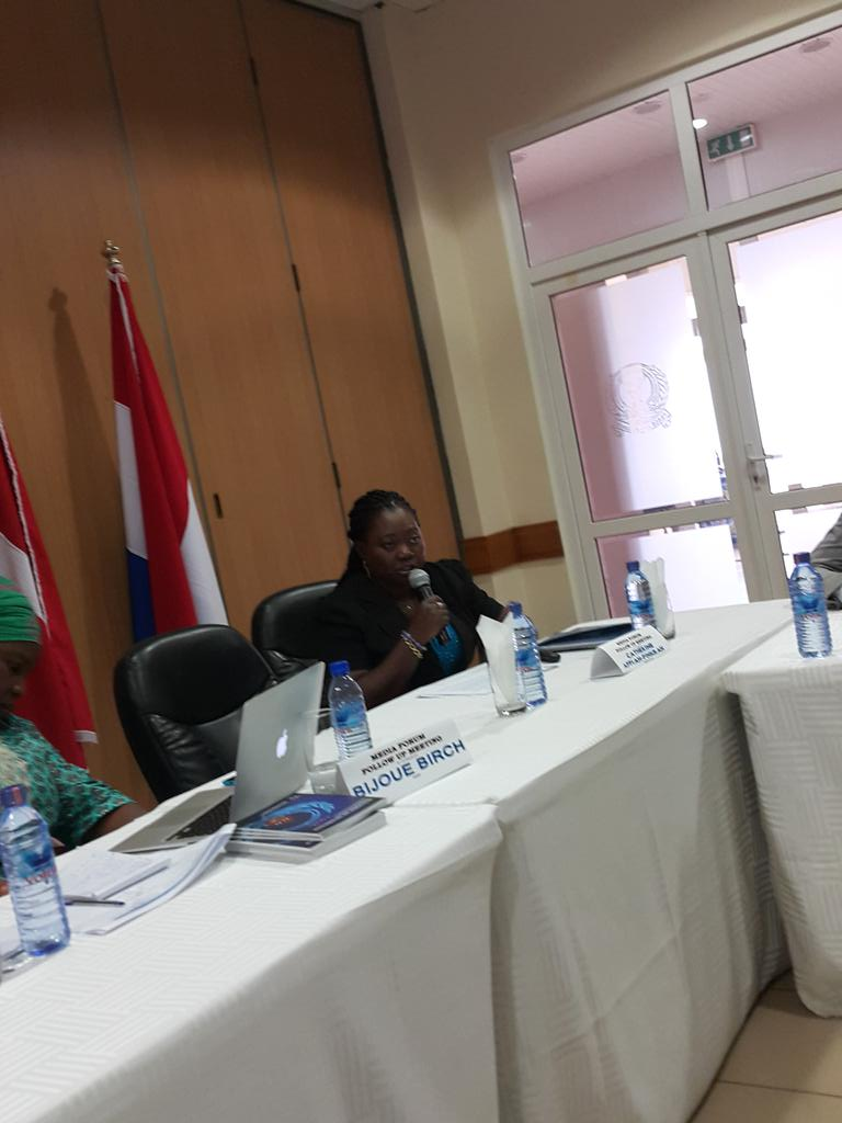 Catherine Appiah-Pinkrah, M of Defence, takes floor. Media shd PROMOTE #UNSCR1325. Supporting women @KojoAbroba http://t.co/QvGk6KMUXh