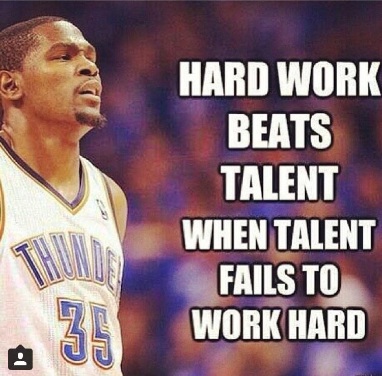 """Hard Work Never Fails Quotes: ScoutsFocus On Twitter: """"Hard Work Beats Talent When"""