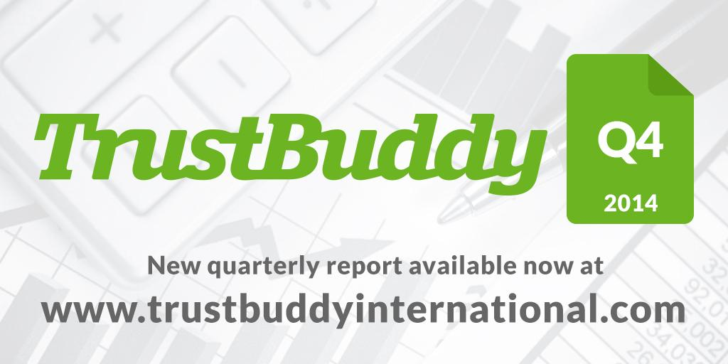 TrustBuddy has now released the Q4 numbers, available at http://t.co/bP2aKC5DKP (PDF) #p2plending #p2p http://t.co/ysHAndjKma