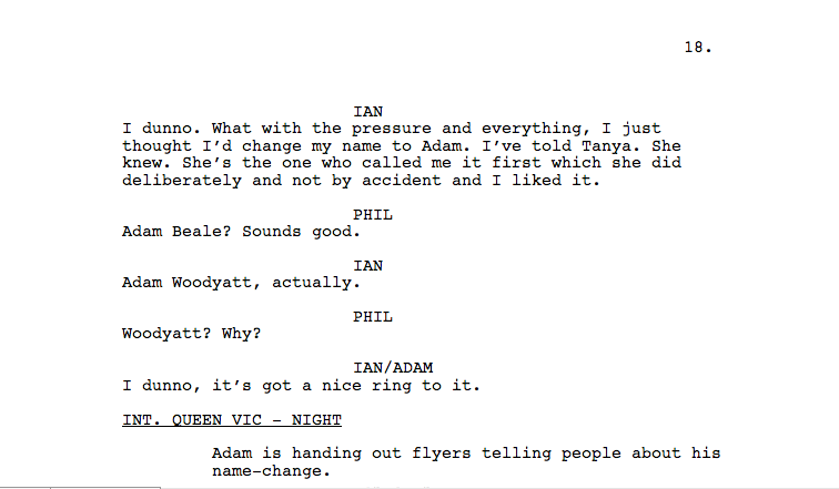 """In case you missed it, here's the hasty rewrite for tonight's Eastenders to get round the """"How's Adam"""" moment #EELive http://t.co/s0903l7JQ2"""