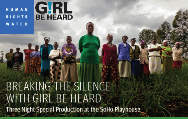This weekend only at @sohoplayhouse: Breaking the Silence with @GirlBeHeard:  http://t.co/DhIjz0JsoG http://t.co/yFwD4v2ala