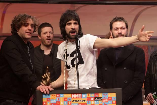 The people have spoken.  @KasabianHQ. Best Band + Best Album at #NMEAwards2015.  http://t.co/iVO7r17v6P http://t.co/Hx1prUL26b