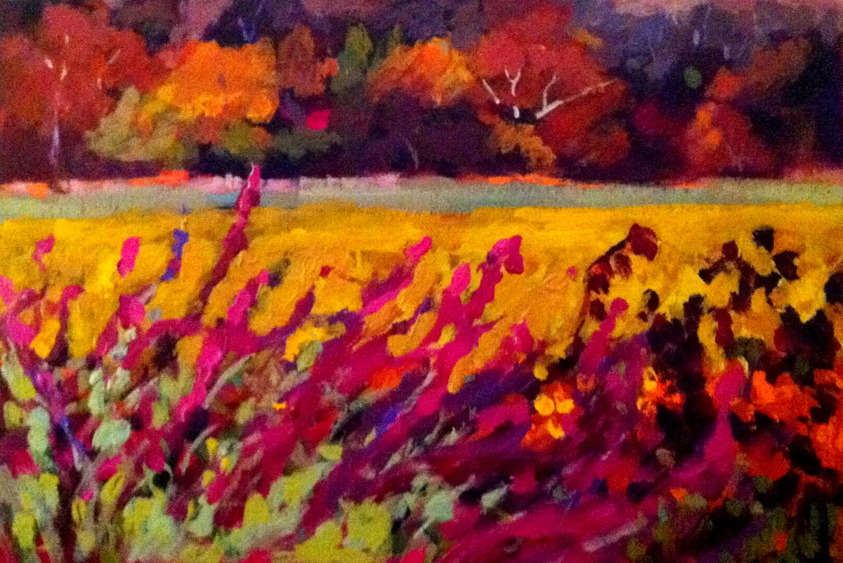 Underneath, oil on vellum  #art #Painting #Landscape http://t.co/ivaRgqLUJv