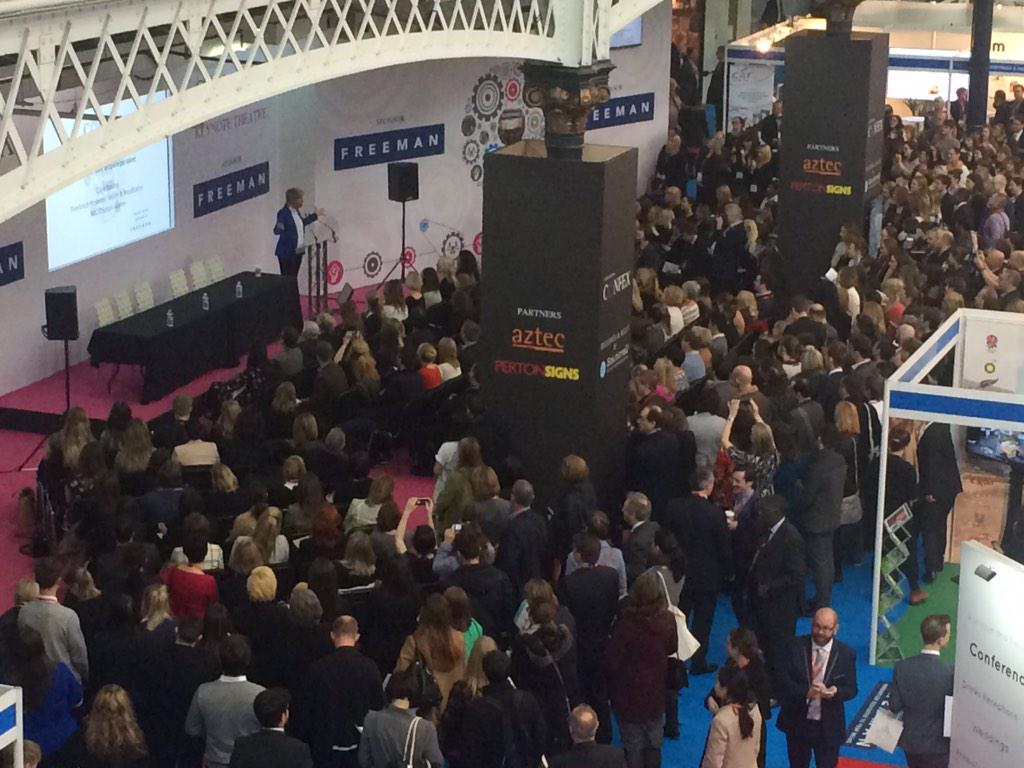 Keynote speaker @clarebalding standing room only #DestinationConfex #eventprofs http://t.co/B2au3qd5P8