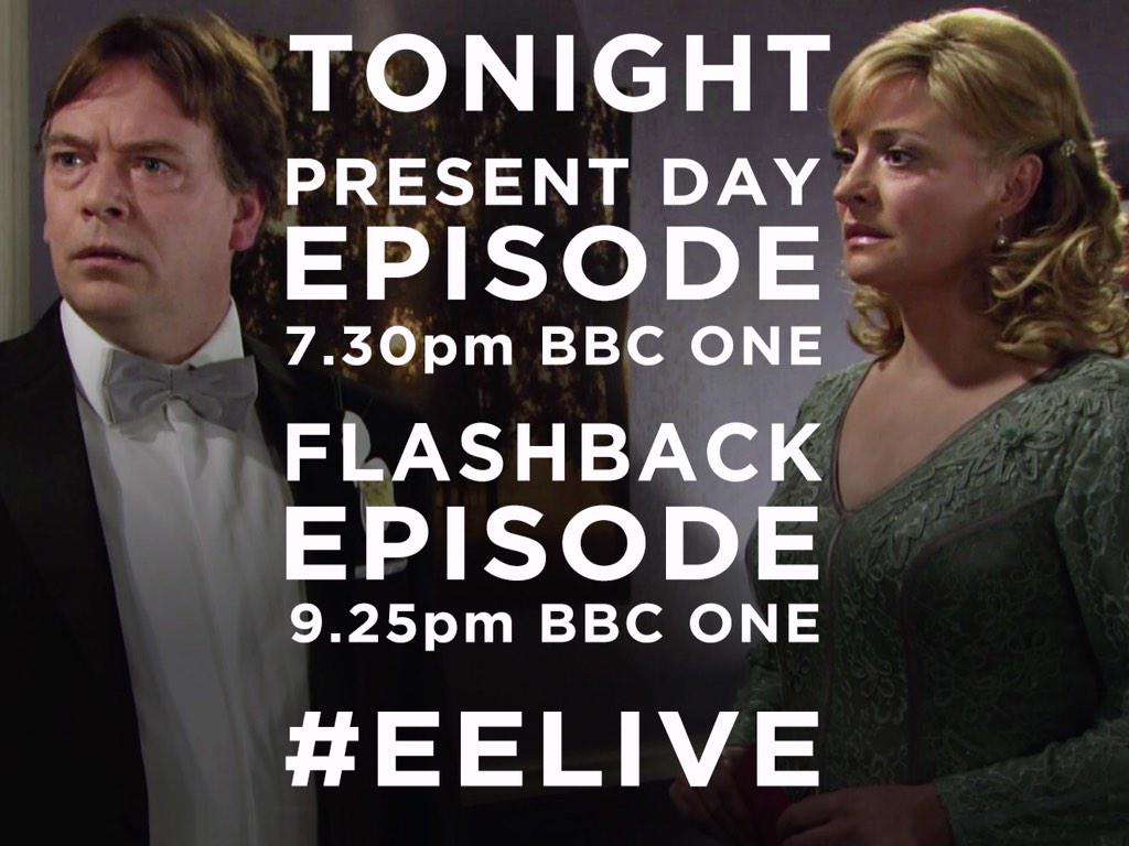 TWO eps tonight: #EELive continues at 7.30pm then we flashback to the night Lucy died at 9.25pm. You must watch BOTH.