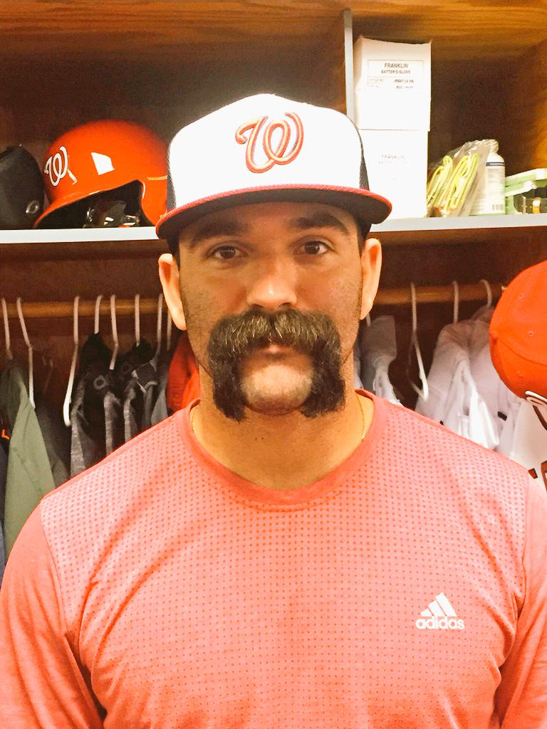 Nationals 2nd Baseman Shows Off Epic Stache