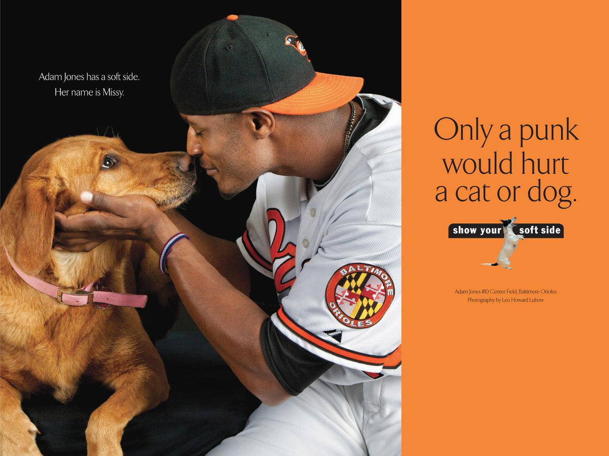 O YEAH! RT @Orioles: Retweet if you agree, the #FaceOfMLB should have a soft side. #AdamJones #FaceOfMLB http://t.co/XLz77vxKKa