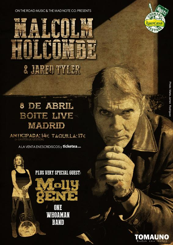 "MALCOLM HOLCOMBE. El ""Tom Waits de los Apalaches"", de gira! B-OaO1TCUAAIZPv"