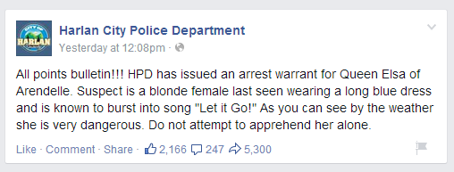 Way to go Harlan City PD, way to leverage social media for big wins & get some great #PR too! http://t.co/JaVu3dJCsK http://t.co/YGduyj9Lz0