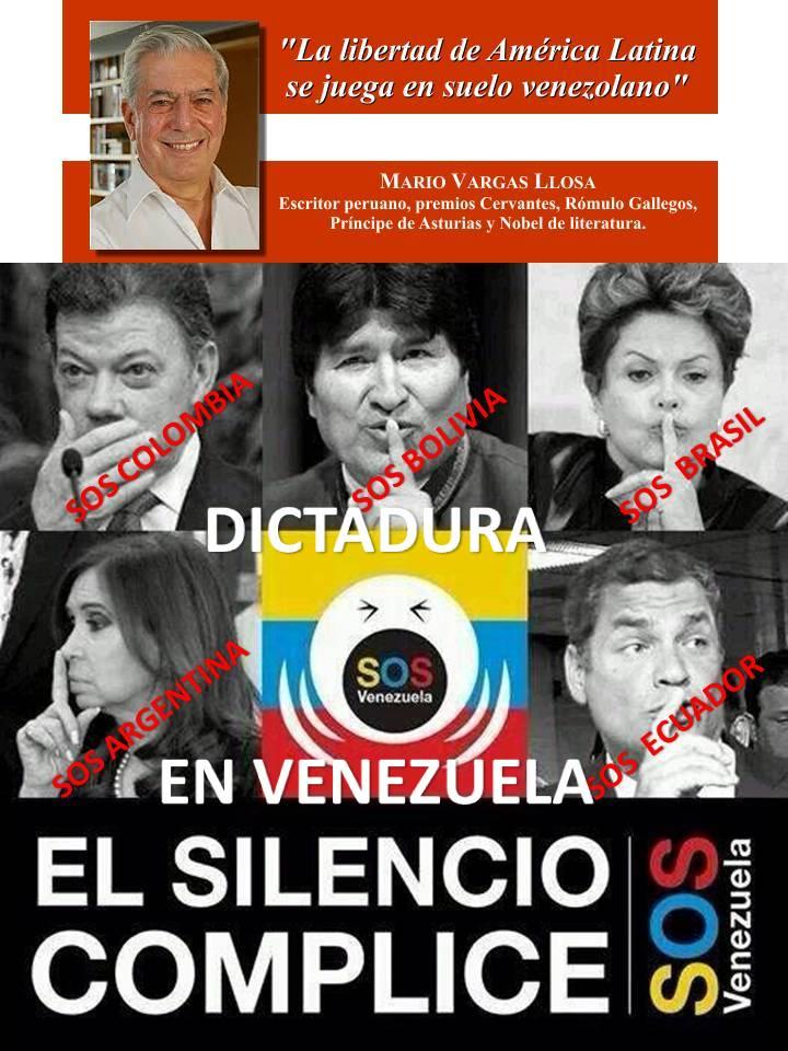 """Mario Vargas Llosa:""""La libertad de América Latina se juega en suelo venezolano"""": IMAGEN http://t.co/9UuaIo2hz4 vía @AliciaVnzla2014"""