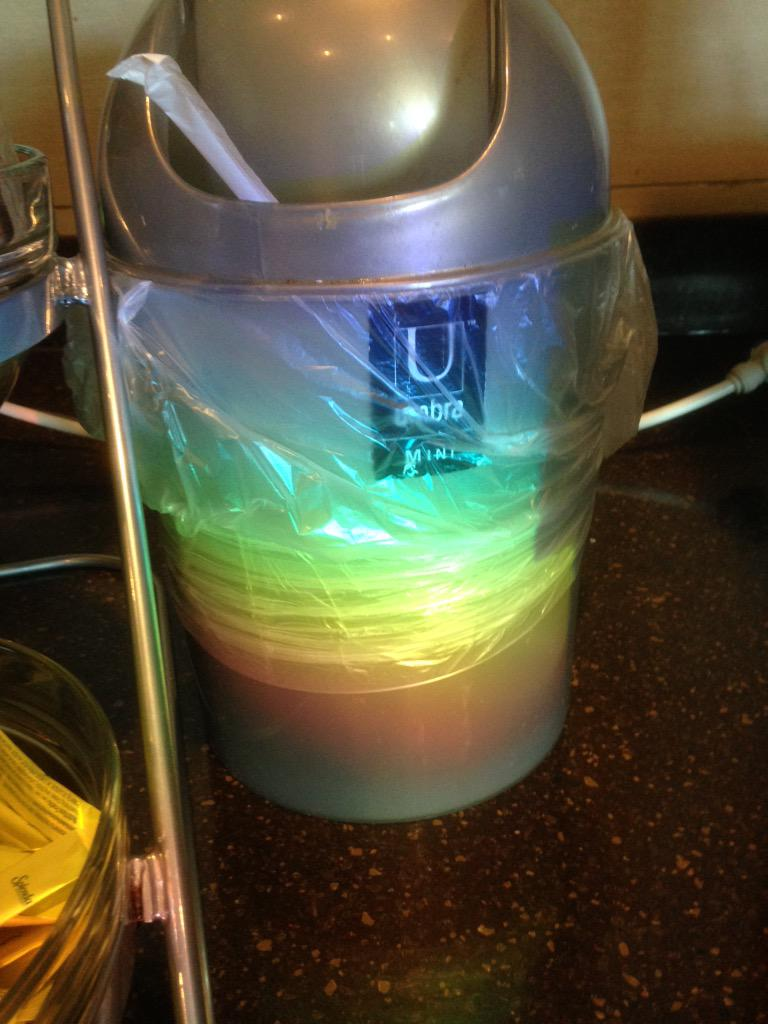I found a trashy rainbow at work today. http://t.co/qXiZpnEjjY