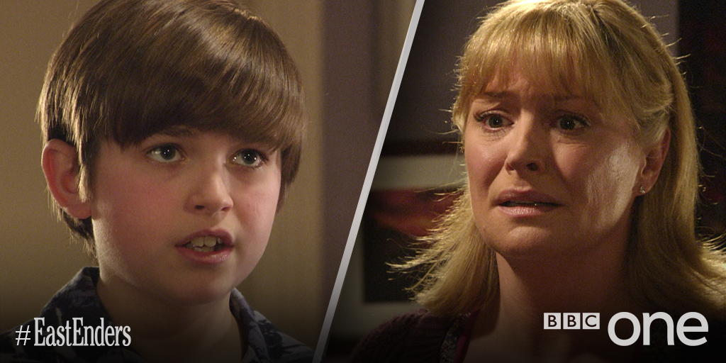 """Whatever she says, she started it. She made everyone unhappy."" It was Bobby. He did it. #EELive #EastEnders"