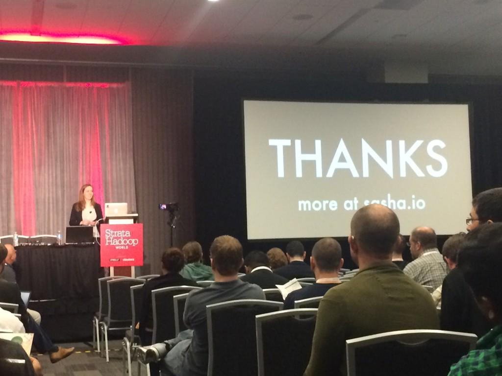 Great presentation @SashaLaundy. More details coming soon at sasha.io #StrataHadoop http://t.co/87qCgsdq40