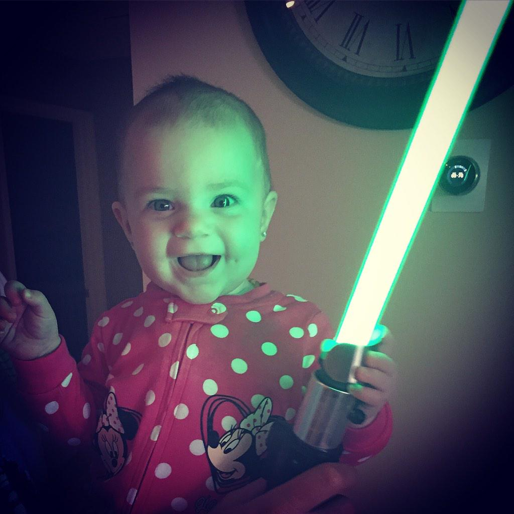 Truly wonderful, the mind of a child is #starwars #jediprincess #makenziemarie #theforceawakens #jedibabies http://t.co/f8M68xiIJo