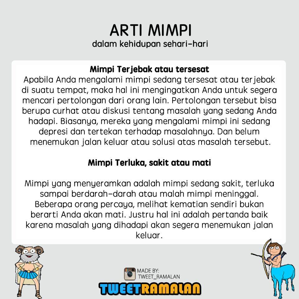 Ramalan Indonesia On Twitter Ini Arti Mimpi M Ia Part  Follow Instagram Tweet_ramalan Banyak Postingan Ramalan Fakta Zodiak Lainnya