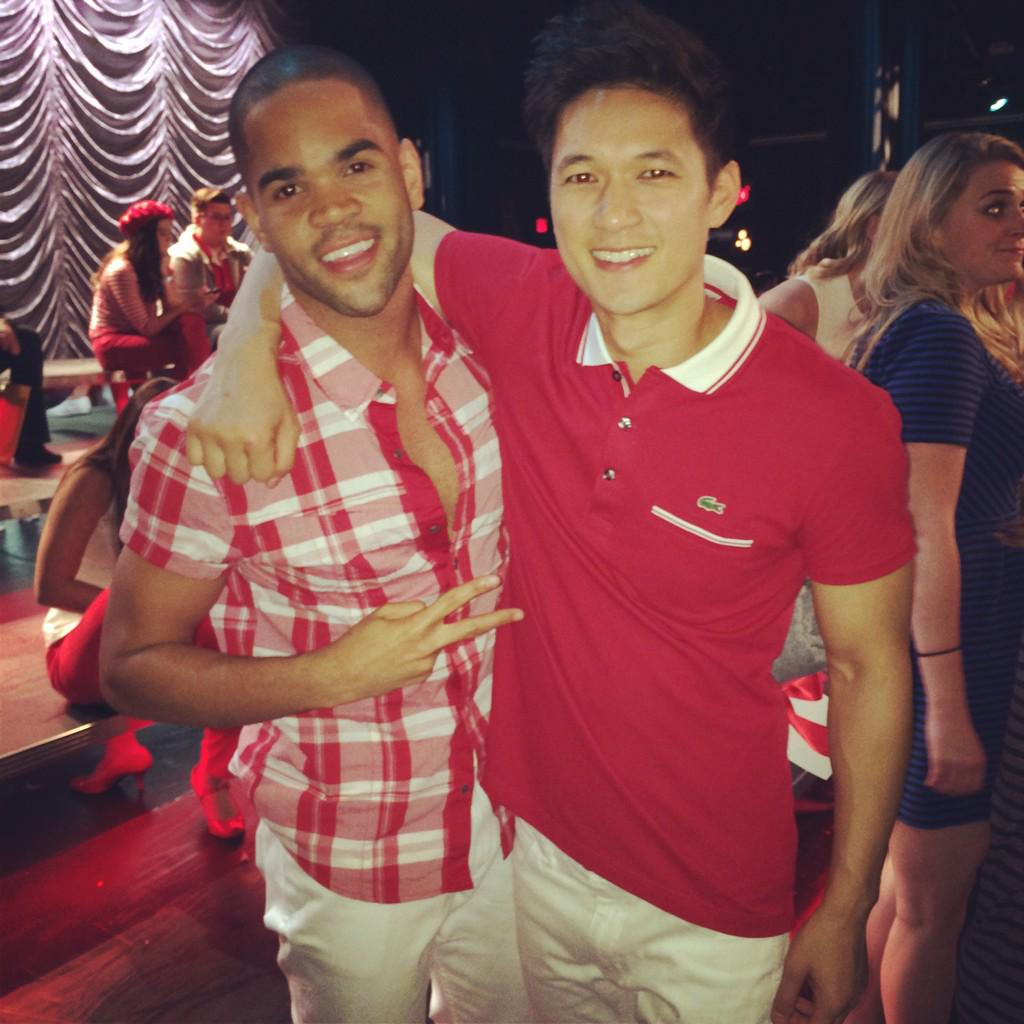 Matt Rutherford & Mike Chang Back together again!! #glee @HarryShumJr http://t.co/Dyse9rCCD8