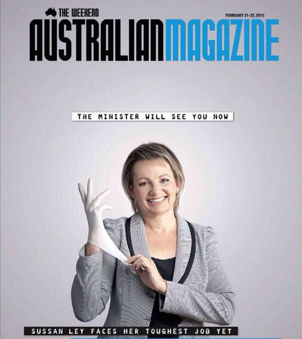 You know, they could have had @sussanley holding a stethoscope or a blood pressure cuff. But nooooooooo! http://t.co/4zWpkphEM5