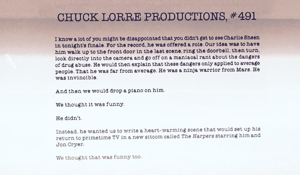 This Vanity Card Explains Why Charlie Sheen Wasn't In The 'Two And A Half Men' Finale