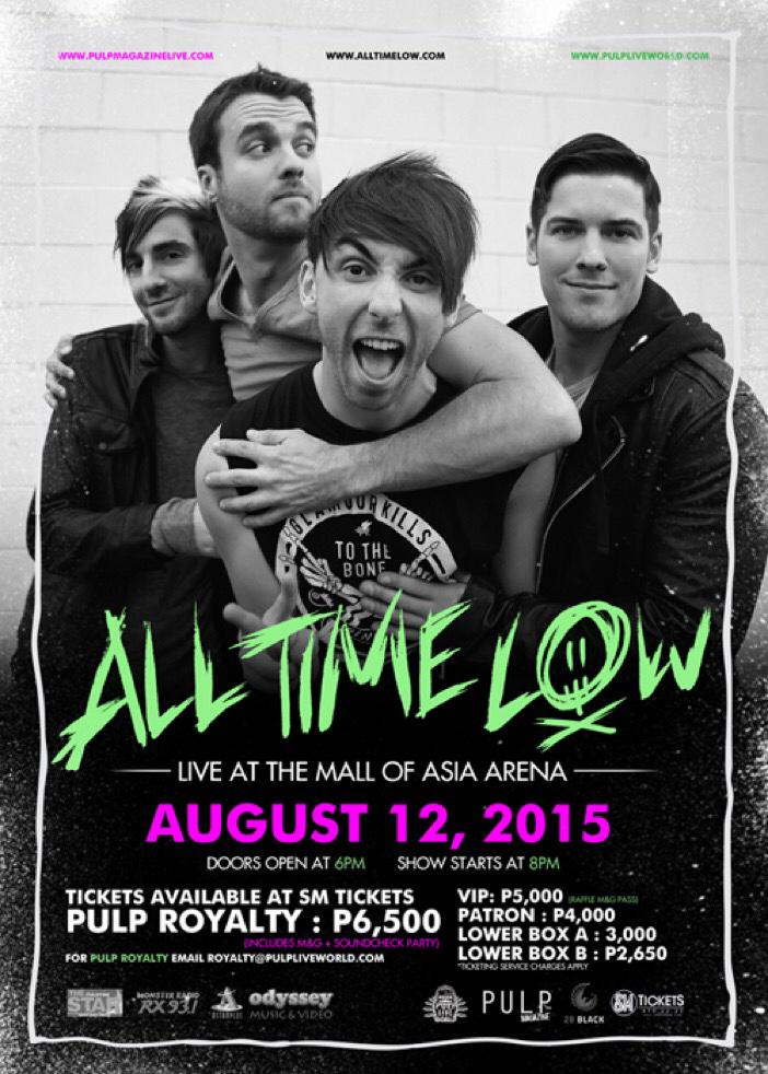 FYI @AllTimeLow PHILIPPINES AUGUST 12 2015 http://t.co/dLYclH1KhO