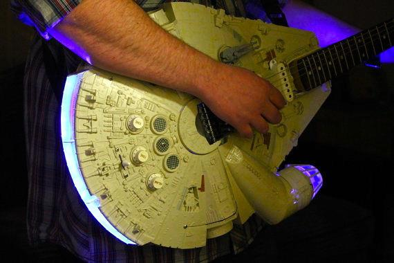 Now it needs a rebel bass // @bonniegrrl: ICYMI: Rock out with a Millennium Falcon guitar! http://t.co/tnQh4zuJQZ http://t.co/D7Gk2Z77CC""