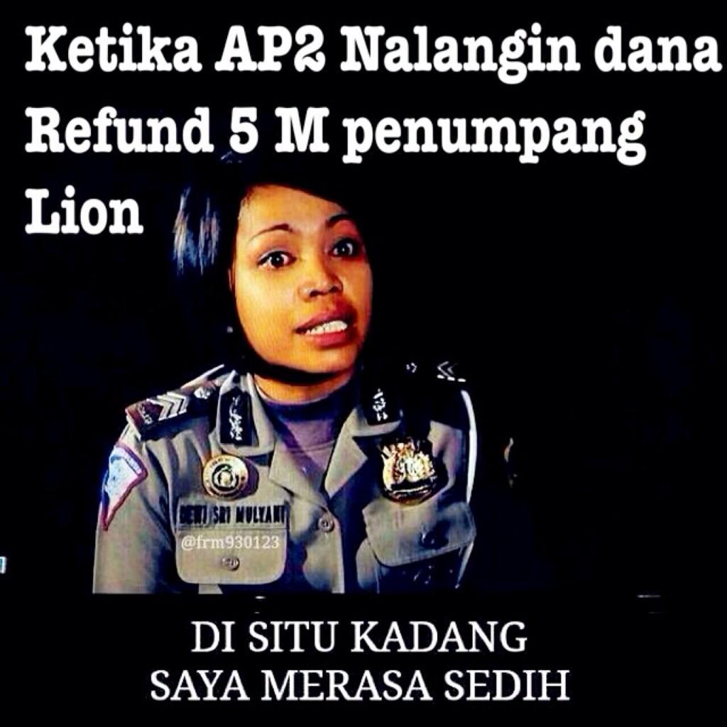Gambar Meme Lion Air Delay Dengan Kata Kata Lucu Sindiran