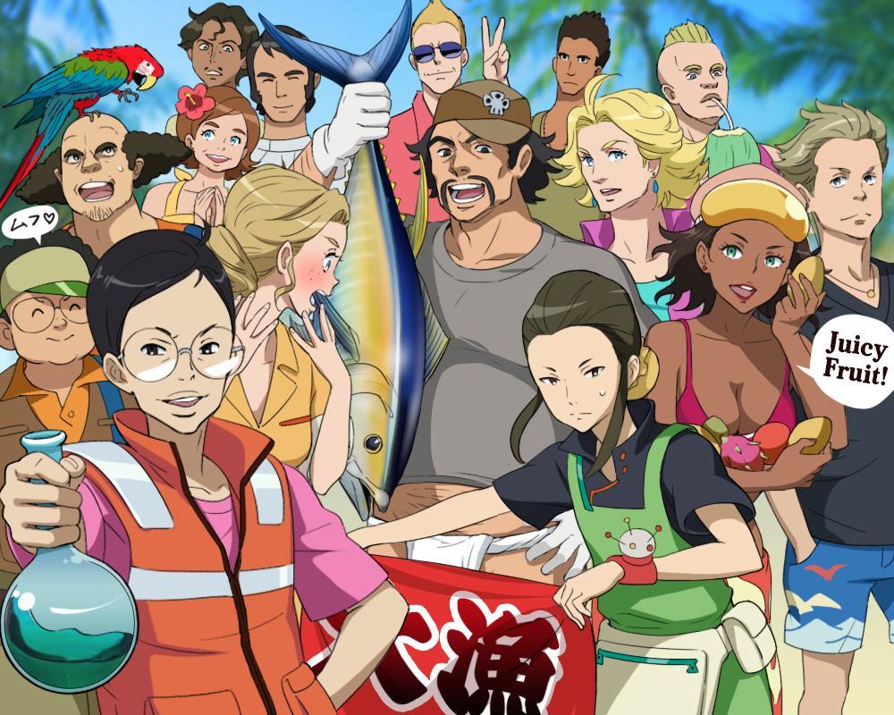 Gレコが4クールだったら『故障したメガファウナが南の島に不時着して、修理するまでみんなでテクノロジーのない場所でワイワイ過ごす』…そんなお話もみたかったです。ドニエル艦長は釣りをしたり、ハッパさんは海水ろ過装置を作ってくれる!#Gレコ pic.twitter.com/qwkTq4VnFC