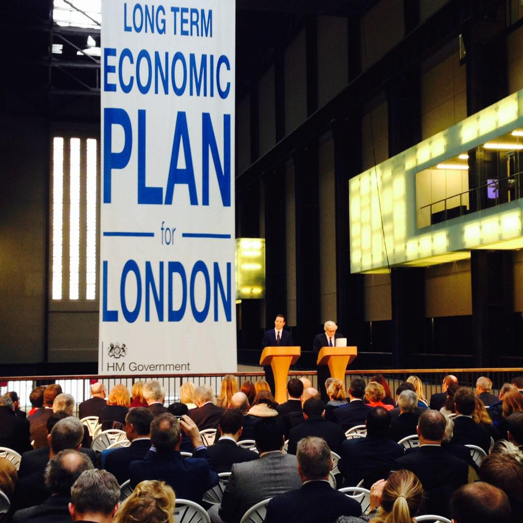 This morning @Tate Modern the Chancellor @George_Osborne and I launched #LongTermEconomicPlan for London http://t.co/cOZnwIf6xu