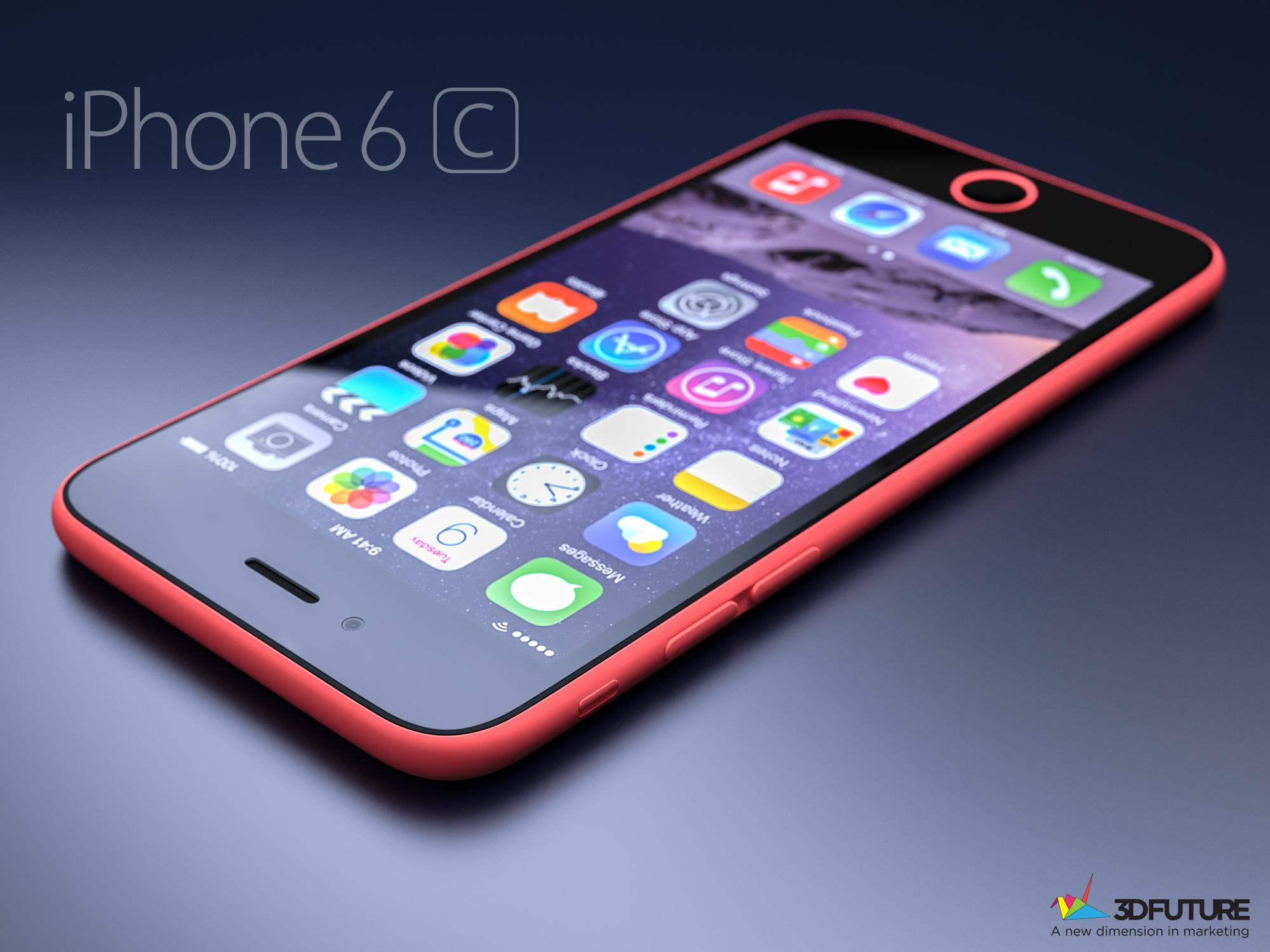A concept render of the iPhone 6c Source: 3D Future/Twitter