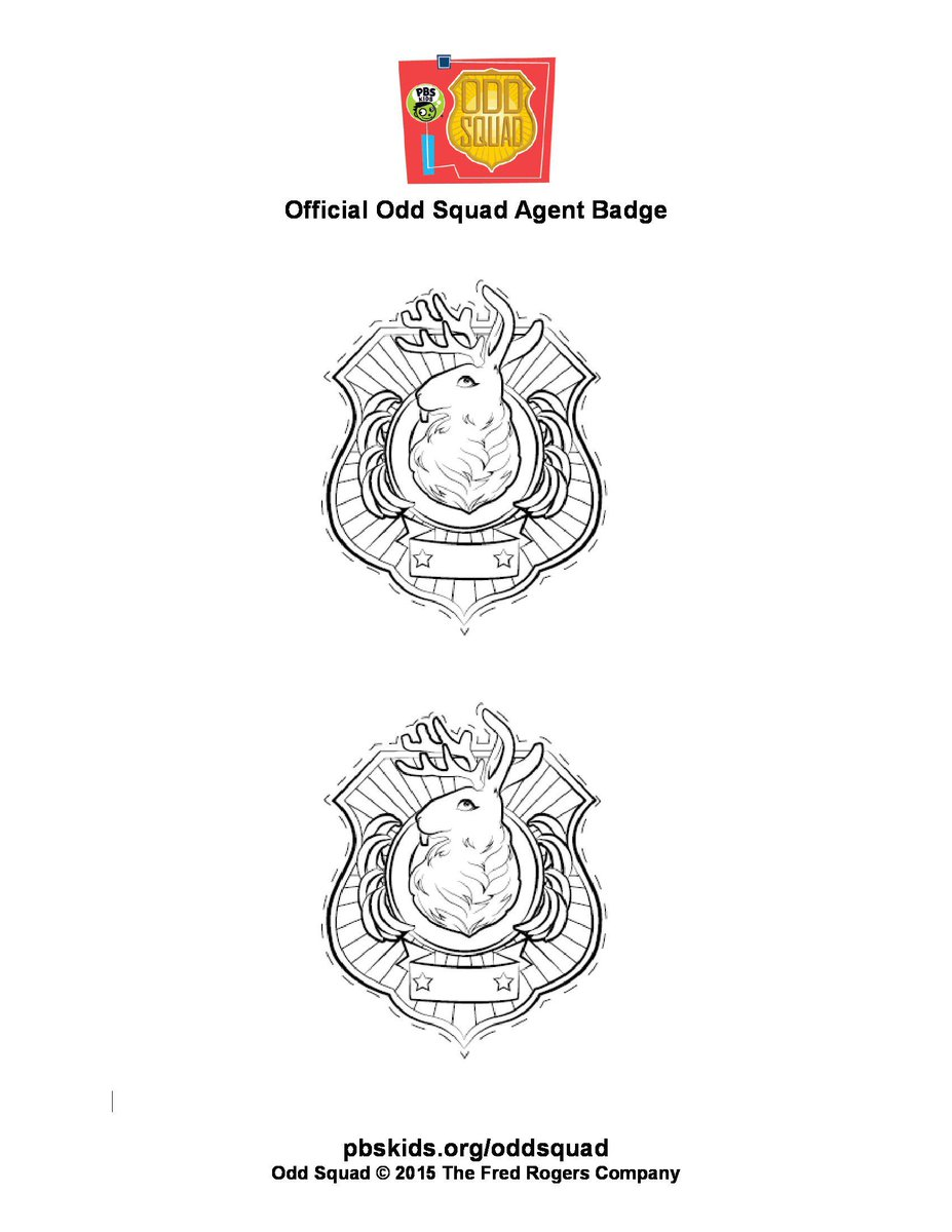 image relating to Odd Squad Badge Printable referred to as Unusual SQUAD upon Twitter: \