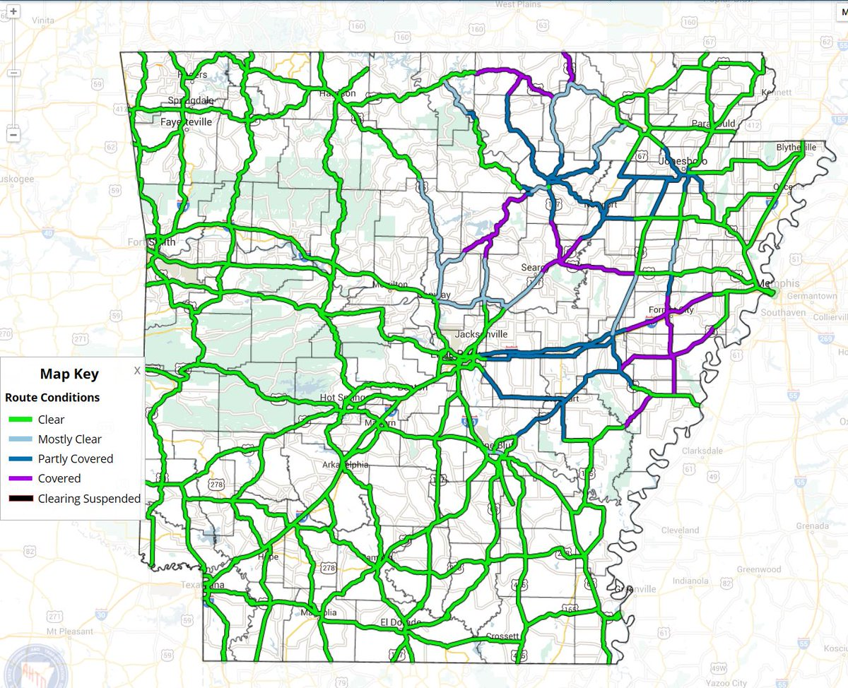 Road conditions deteriorating rapidly in Northeast Arkansas: http://t.co/rlLd5L872T