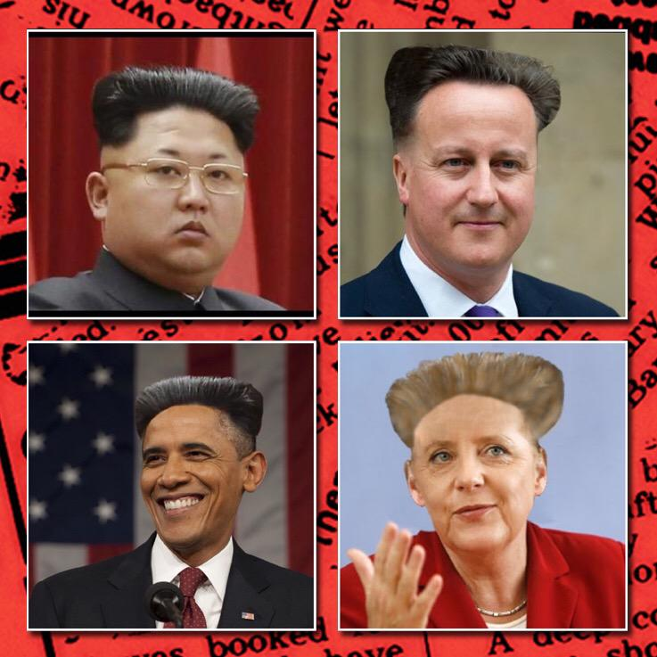 RT @haveigotnews: Kim Jong Un's new hairdo inspires world leaders. http://t.co/ZTLeuTA2cX