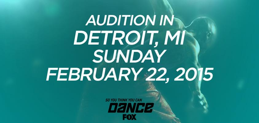 RT @DANCEonFOX: We're braving the cold in Detroit this SUNDAY! Are you auditioning? Get info here: http://t.co/indvWL3tBP http://t.co/JJM8w…