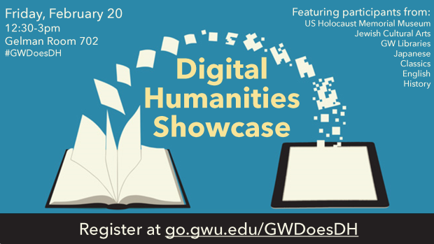 #GWDoesDH is live! Go to http://t.co/WQDH3nGFor for Twitter hashtags, abstracts, and the names of the presenters http://t.co/Fw4A686lHU
