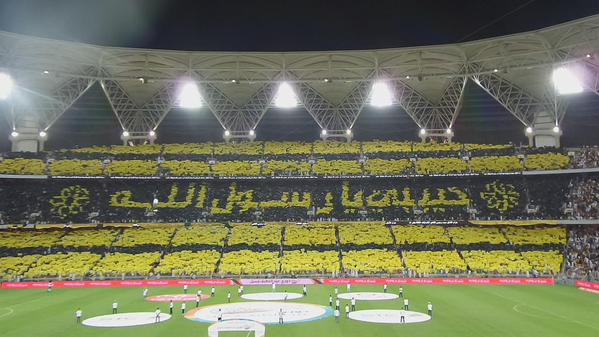 ما أروع الإنسان الرياضي إذا حمل عقيدته في الميدان وأعلن ولاءه للرحمن. #حبيبي_يا_رسول_الله  #شكراً_جمهور_الاتحاد http://t.co/aoS8YXuRS7