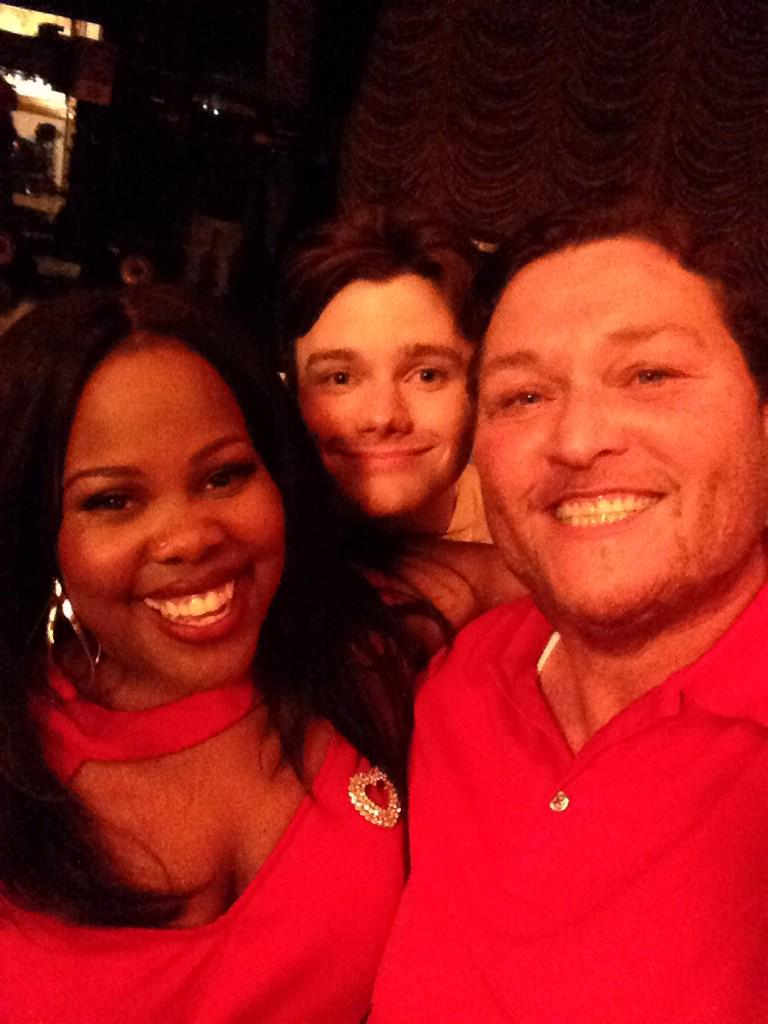 A FEW PICS FROM LAST NIGHT!! @MsAmberPRiley @chriscolfer I LOVE YOU TWO!!! http://t.co/f4JUqzeob3