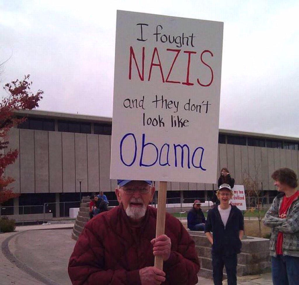 This World War 2 veteran has a message for #RudyGiuliani & republicans: #ObamaLovesAmerica