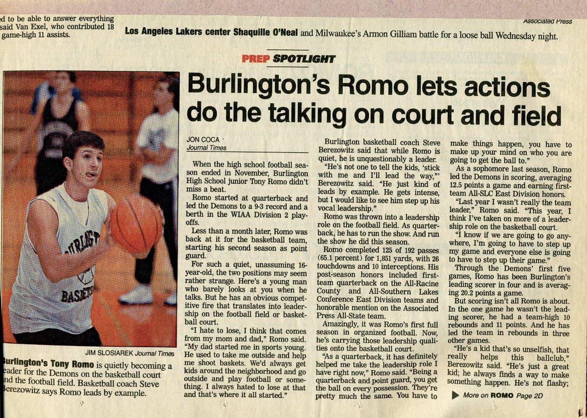 d7e36f73a Awesome stuff RT  jonmachota  Old high school hoops article about Tony Romo  (via  BobBrainerd)pic.twitter.com UJzkMFxzIQ