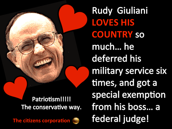 Republican rudy giuliani believes being pro