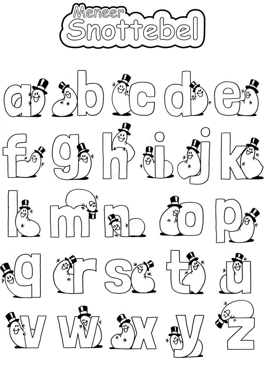 kleurplaten kleurplaat letters