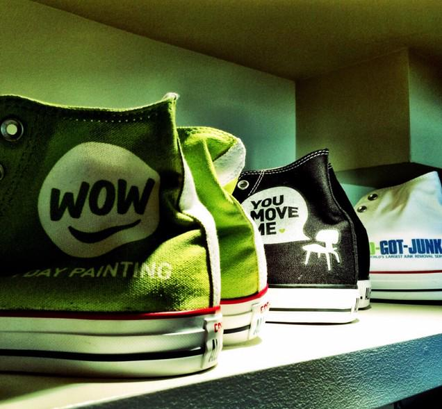 All three sister brands together at once. Kicks for kickoff! #beexceptional @WOW1DAYPAINTING @YouMoveMeCo http://t.co/yENTM0lBgv