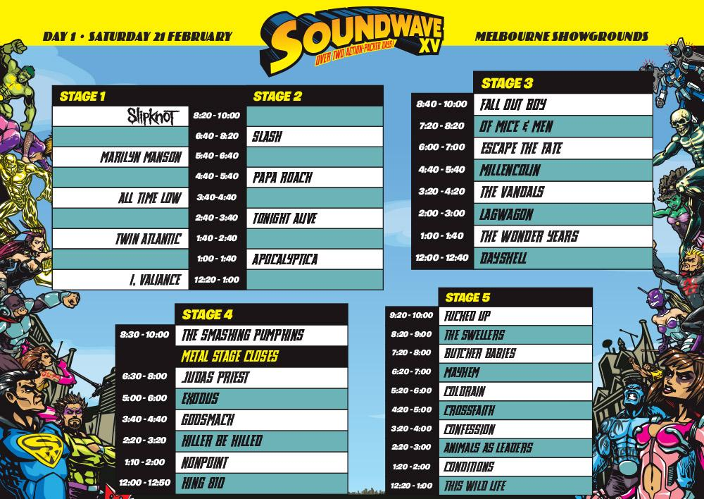 #SW15 Melbourne SCHEDULE Day 1 is here for those that don't app  http://t.co/UN9QtBV2XM http://t.co/sj2IAlvtHc