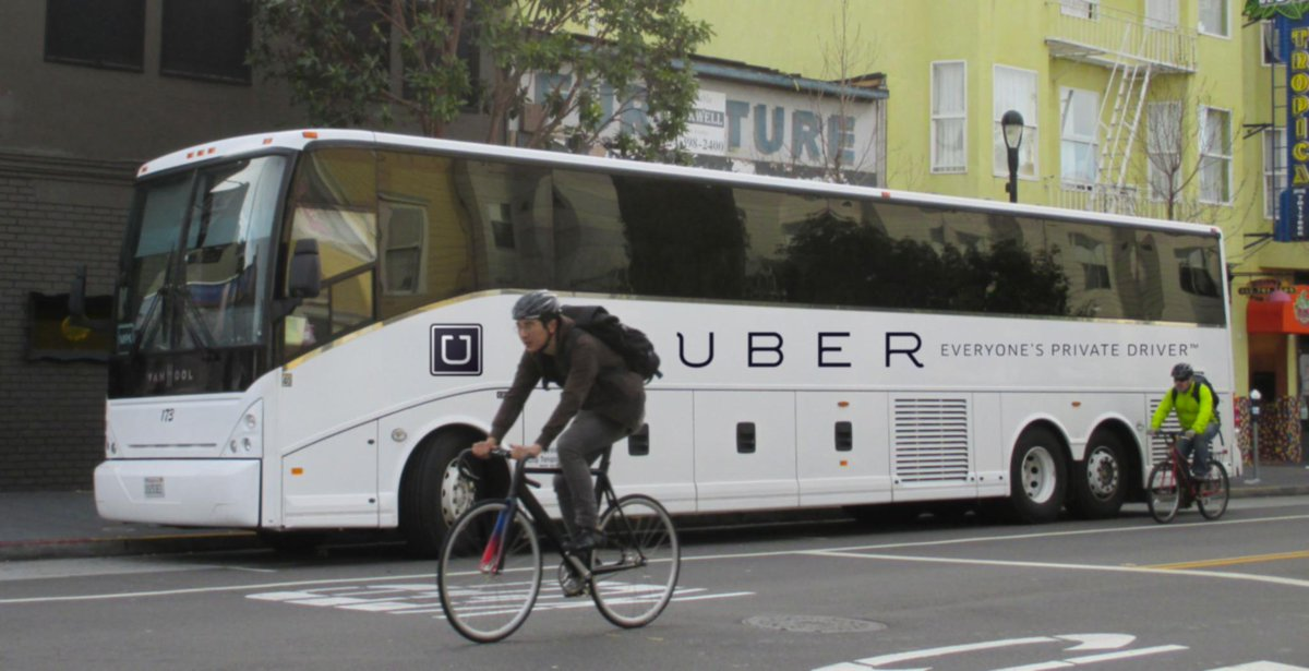 Bus ➤ Car ➤ Uber ➤ UberX ➤ UberPool ➤ UberBus. Obvious next step of efficiency. Also back to where we started. :) http://t.co/SKLYbMlfGA