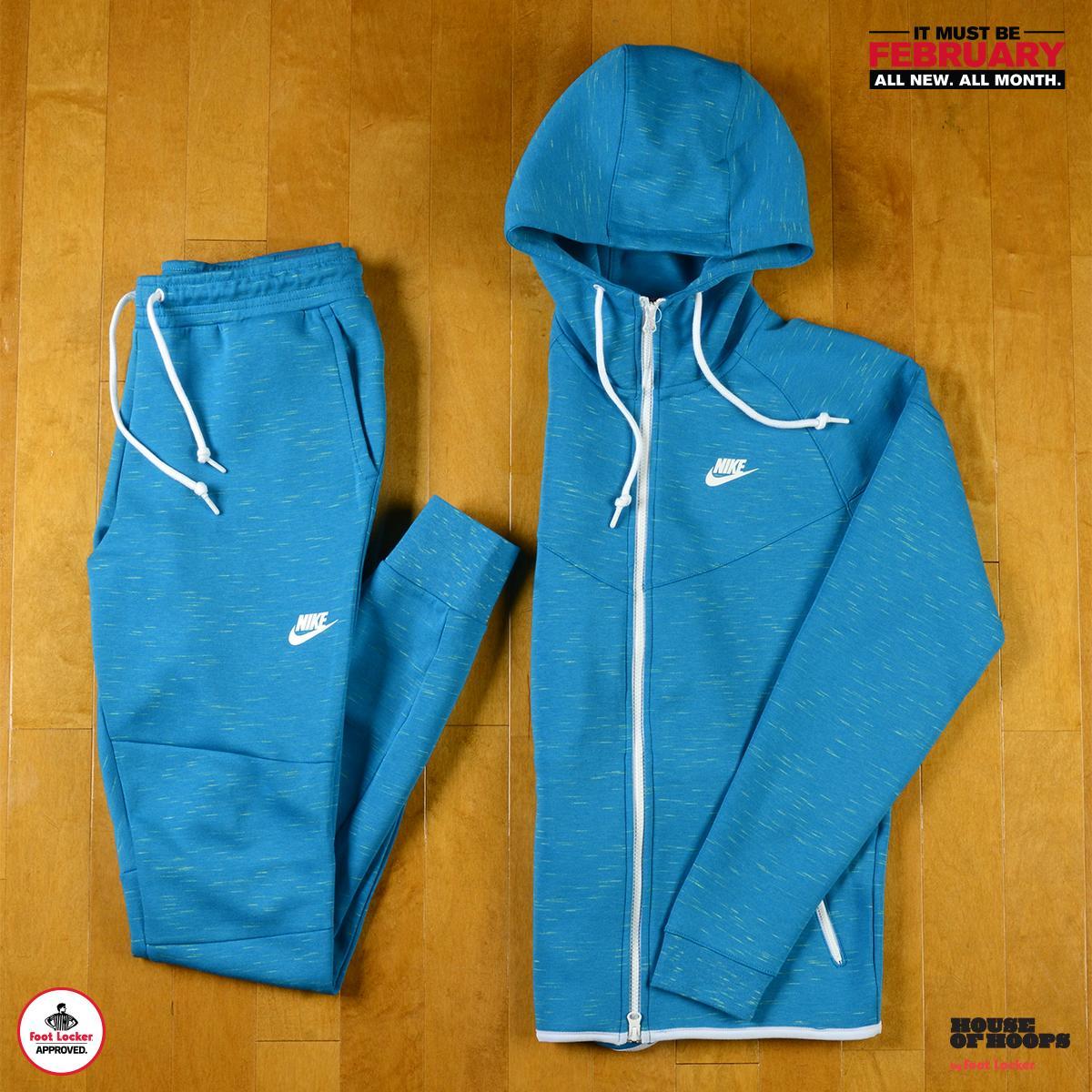 Foot Locker On Twitter Ultra Lightweight Fleece For Optimum Warmth The Light Blue Heather Nike Tech Fleece Hoodie Pant Available Now Http T Co 8ryzqcvguh