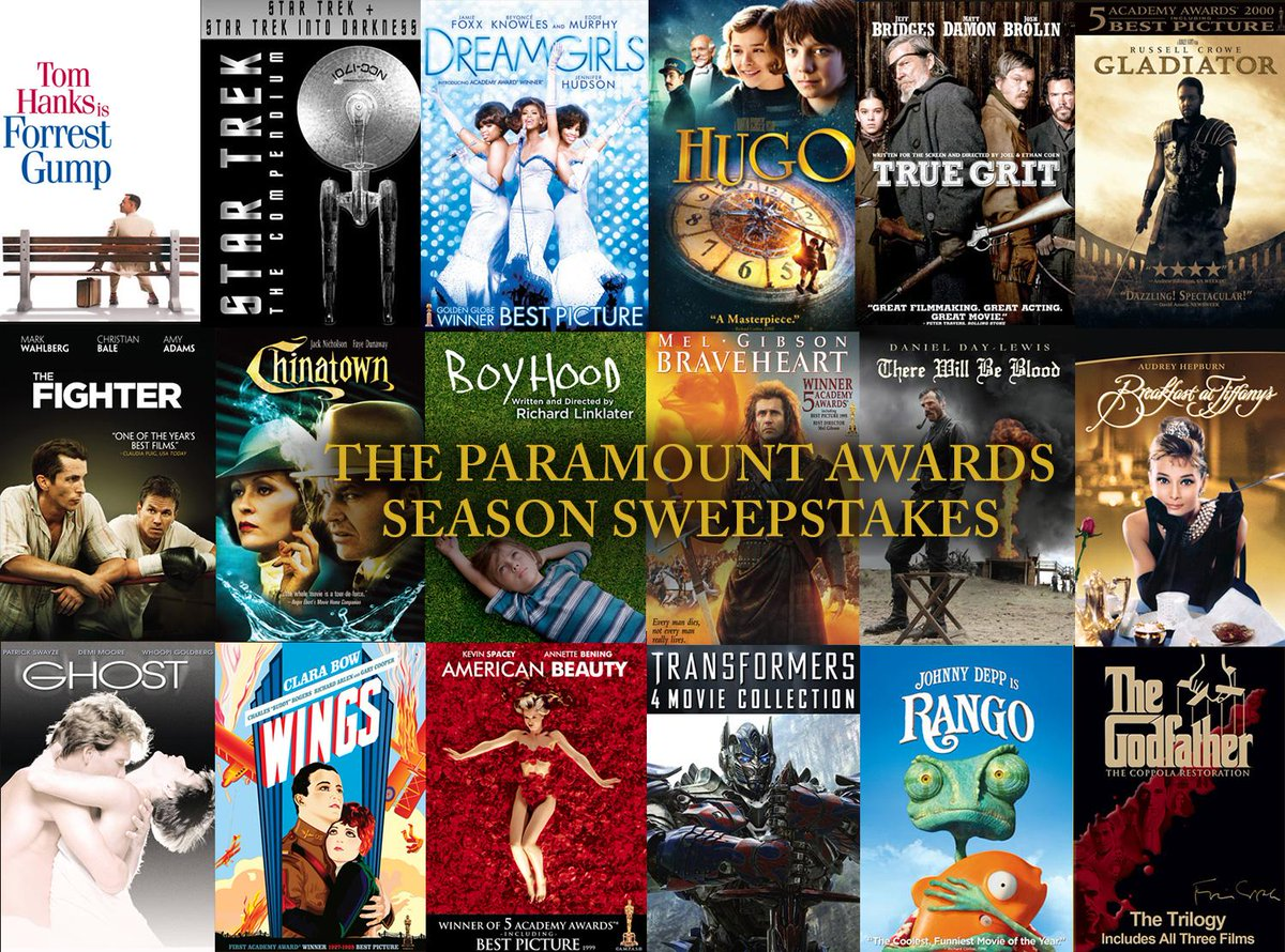 The #AcademyAwards are today! RT/FAV for a chance to win a bundle of Paramount's #OSCAR nominated & winning titles! http://t.co/wHtefGxzo1