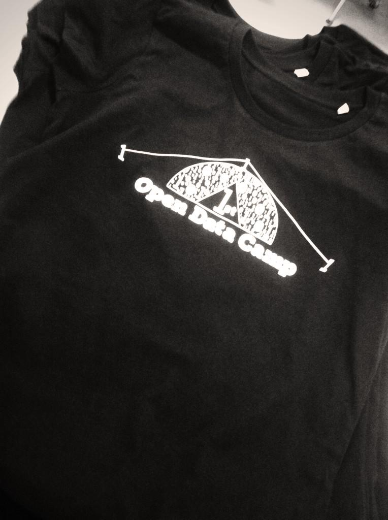 Liking the free t-shirt at #ODcamp #ODD15 happy open data day everyone! http://t.co/W7reXk92xl