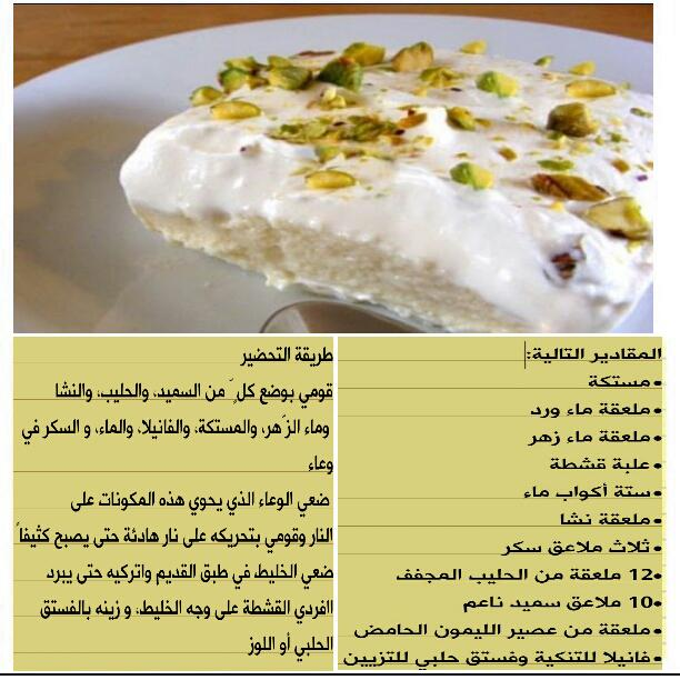غشب On Twitter طريقة عمل حلى ليالي لبنان اطباق حلى Http T Co Fg7wawwrqk