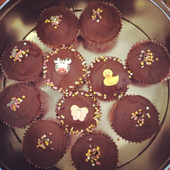 Lola has made some cute cakes for Rex's 2nd birthday party today! #sisterlove 💗 http://t.co/0MYVxOg64c